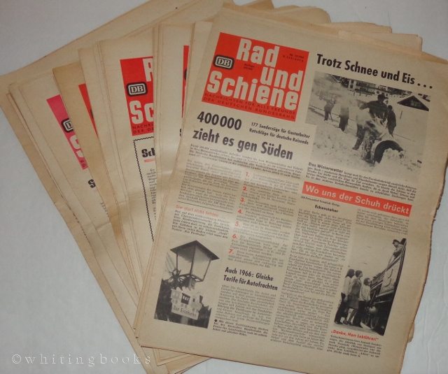 Image for Rad und Schiene: Nachrichten für alle Freunde der Deutschen Bundesbahn - 36 Issues, 1963-1966 (Wheel and Rail: News for All Friends of the German Federal Railways)