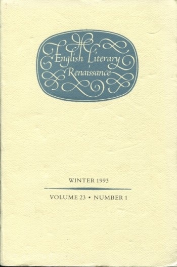 Image for English Literary Renaissance, Winter 1993 - Volume 23, Number 1