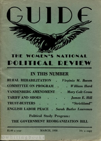 Image for GUIDE: The Women's National Political Review, March 1938, Vol. 12, No. 6