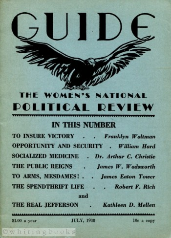 Image for GUIDE: The Women's National Political Review, July 1938, Vol. 12, No. 10