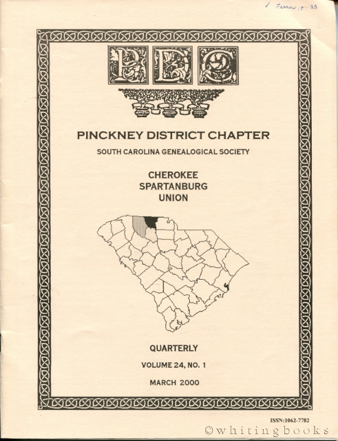Image for South Carolina Genealogical Society Quarterly, Volume 24, No. 4, December 2000: Pinckney District Chapter - Cherokee, Spartanburg, Union Counties