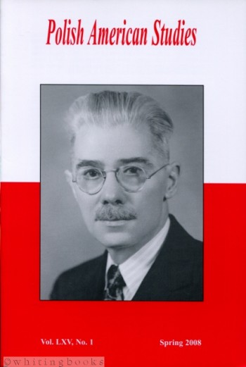 Image for Polish American Studies: A Journal of Polish American History and Culture; Vol. LXV, No. 1, Spring 2008