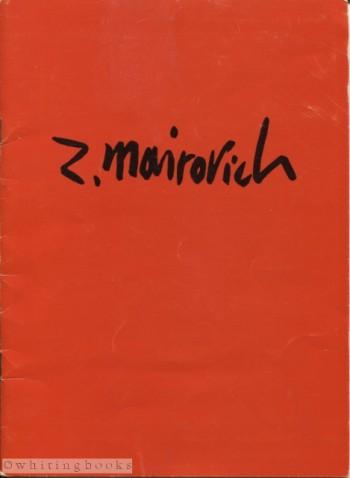 Zvi Mairovich Signed Exhibition Catalogue - Kunsthandel Santee Landweer, N.V., Amsterdam, 1964