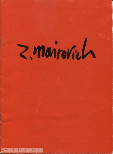 Image for Zvi Mairovich Signed Exhibition Catalogue - Kunsthandel Santee Landweer, N.V., Amsterdam, 1964