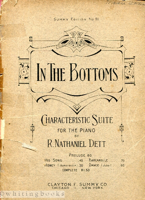 Image for In the Bottoms: Characteristic Suite for the Piano (Summy Edition No. 61/ C.F.S.CO 1465)