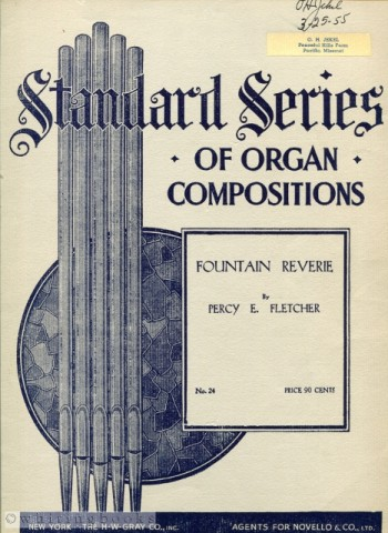 Image for Fountain Reverie - Standard Series of Organ Compositions, No. 24