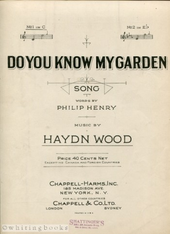 Image for Do You Know My Garden [Song]