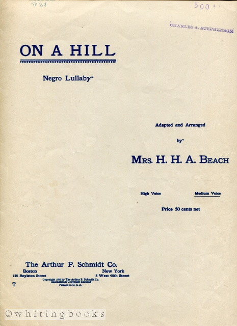 Image for On a Hill: Negro Lullaby