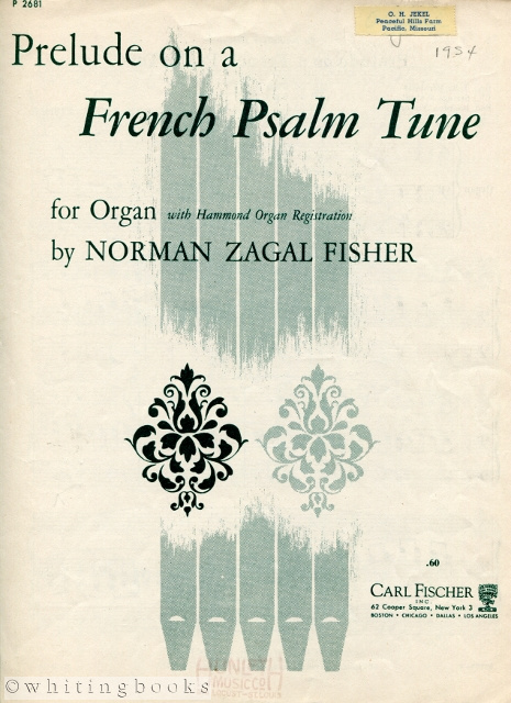 Image for Prelude on a French Psalm Tune for Organ, with Hammond Organ Registration
