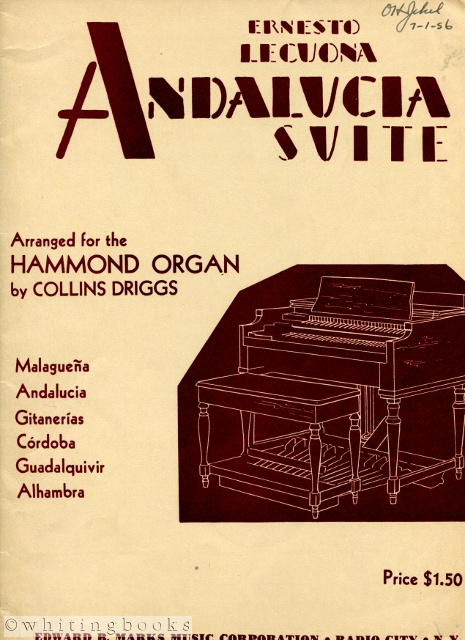Image for Andalucia Suite, Arranged for the Hammond Organ By Collins Driggs