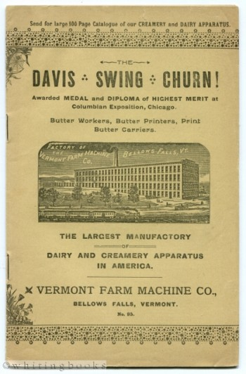 Vermont Farm Machine Co. - Dairy and Creamery Apparatus Catalogue, No. 95