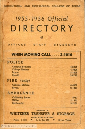 Image for 1955-1956 Official Directory of Office, Staff, Students