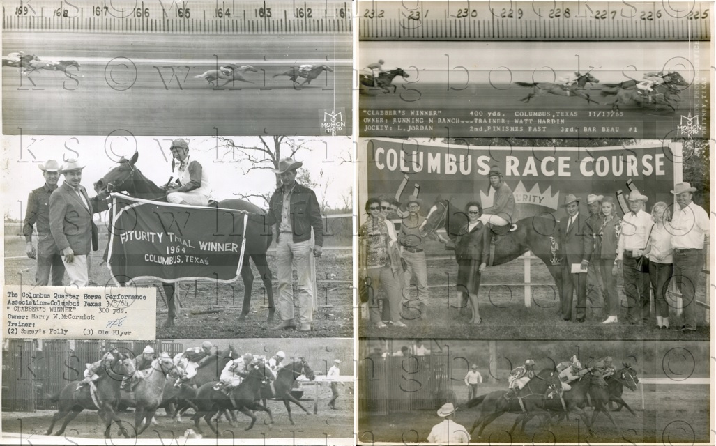 Image for Columbus, Texas Horse Racing Track Photos (2) 1960s - The Columbus Quarter Horse Performance Association