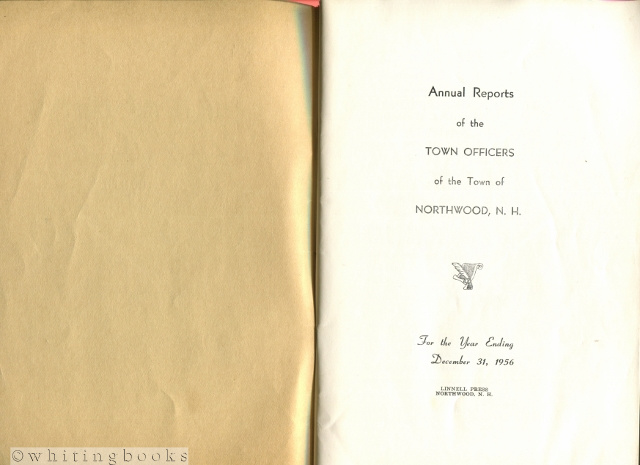 Image for Annual Reports of the Town Officers of the Town of Northwood, New Hampshire for the Year Ending December 31, 1956