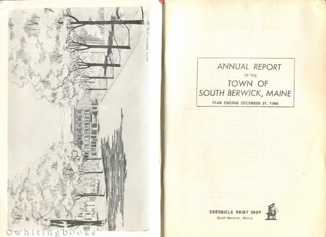 Image for Annual Report of the Town of South Berwick, Maine for the Year Ending December 31, 1968