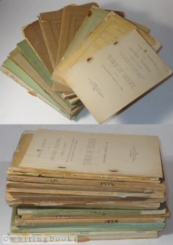Image for Derry, New Hampshire Annual Town Reports, Lot of 16 - 1889-1946