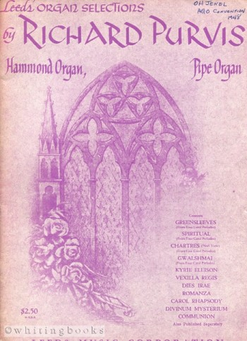 Image for Leeds' Selections for Hammond Organ and Pipe Organ