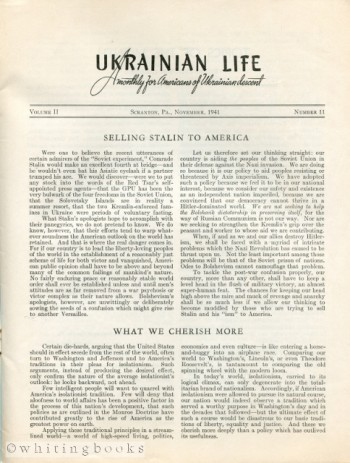 Image for Ukrainian Life: A Monthly for Americans of Ukrainian Descent - Volume II, Number 11, November 1941