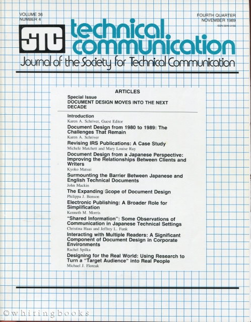 Image for Technical Communication: Journal of the Society for Technical Communication - Volume 37, Number 2, May 1990
