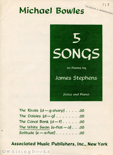 Image for The White Swan, from the 5 Songs on Poems Series by James Stephens (Voice and Piano)