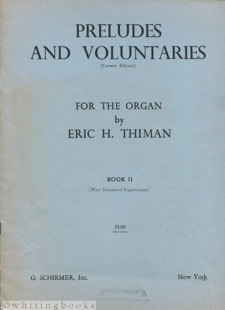 Image for Preludes and Voluntaries (Curwen Edition) for the Organ: Book II with Hammond Registration