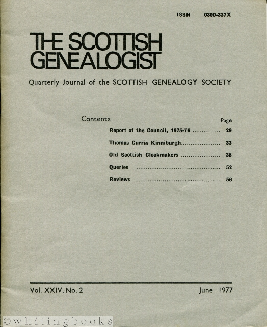 Image for The Scottish Genealogist: Vol. XXIV, No. 2 - June 1977