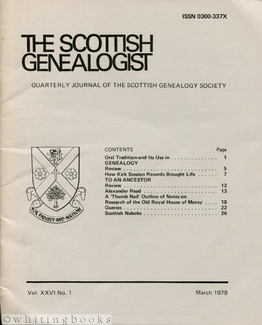 Image for The Scottish Genealogist: Vol. XXVI, No. 1 - March 1979
