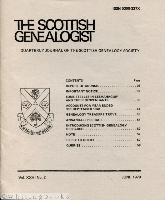 Image for The Scottish Genealogist: Vol. XXVI, No. 2 - June 1979