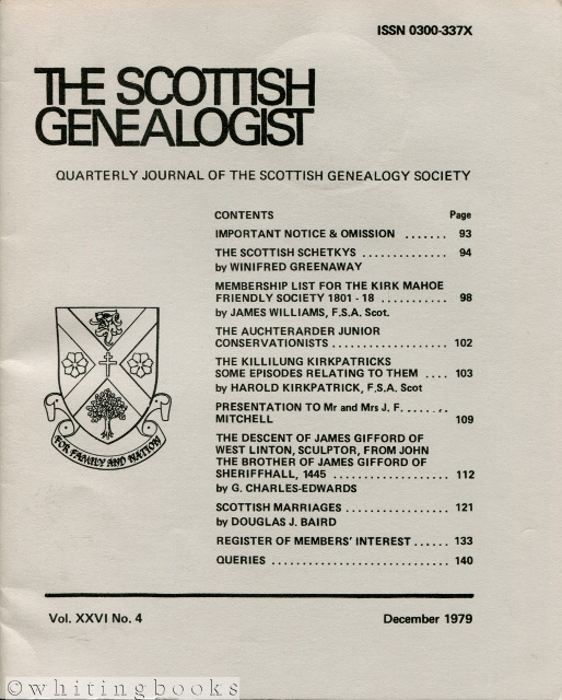 Image for The Scottish Genealogist: Vol. XXVI, No. 4 - December 1979