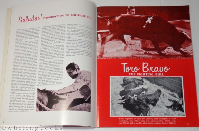 Image for Bullfights Portuguese Style Souvenir Program - Astrodome, Houston, Texas, October 1966