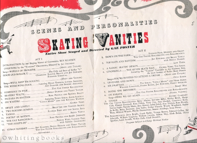 Image for Skating Vanities - The First Musical Extravaganza on Wheels (Roller Skating Show Souvenir Program)