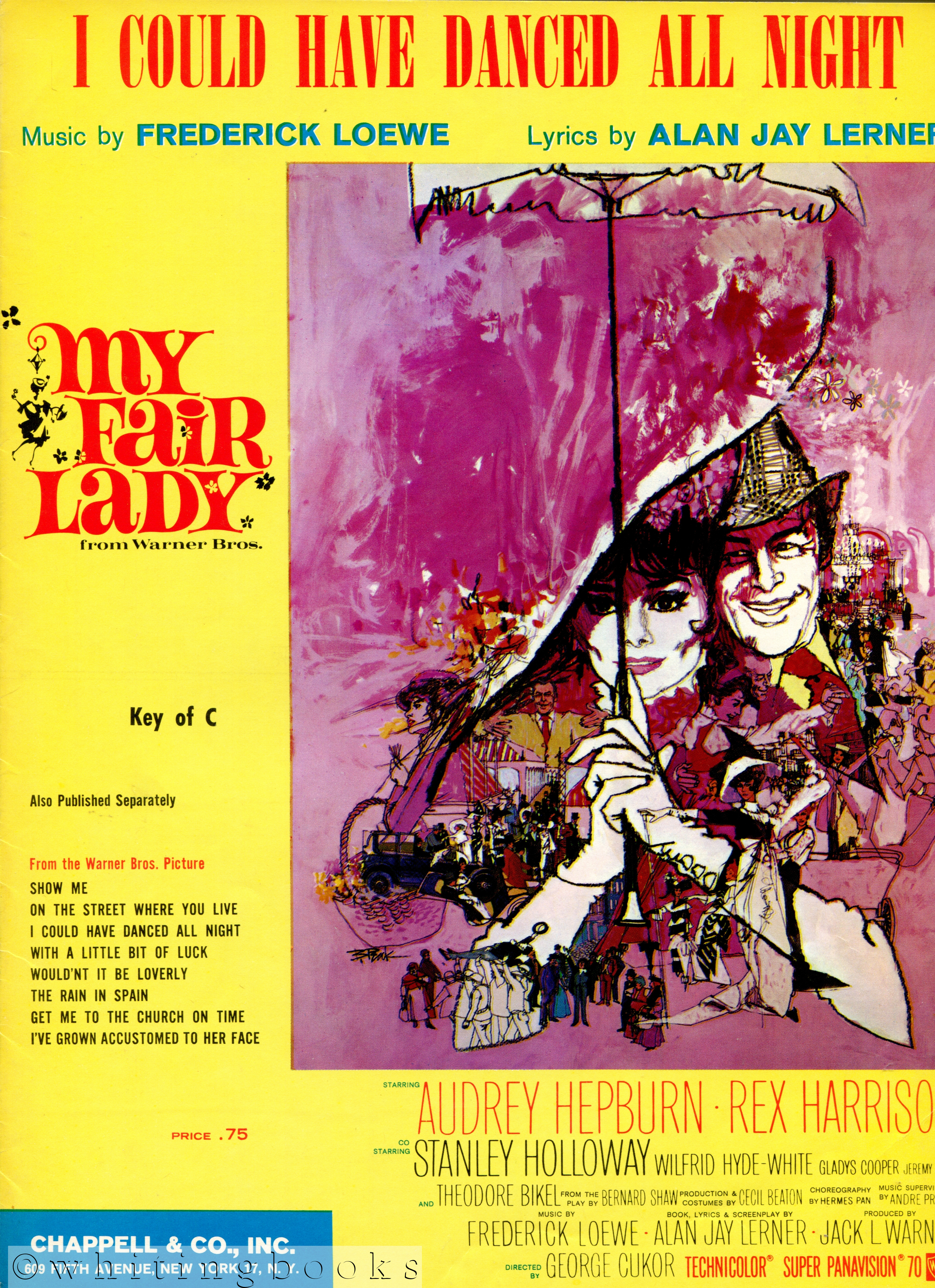 Image for I Could Have Danced All Night - Sheet Music, Key of C, from the Warner Bros. Movie, My Fair Lady