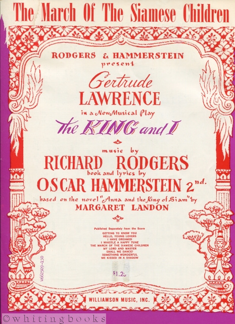 Image for The March of the Siamese Children - Piano Sheet Music from the Musical, The King and I