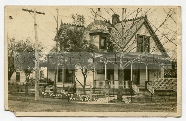 Image for Cummings-Smith House Alvin, Texas - Real Photo Post Card (RPPC) Circa 1910