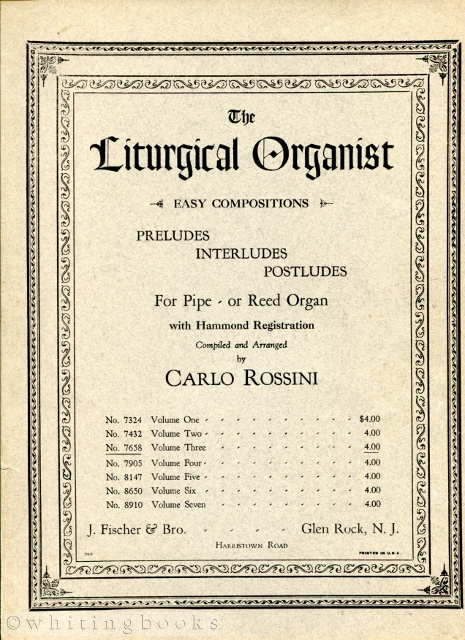 Image for The Liturgical Organist: Preludes, Interludes, Postludes for Pipe or Reed Organ with Hammond Registration