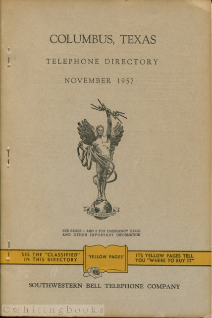 Image for Columbus, Texas Telephone Directory November 1957