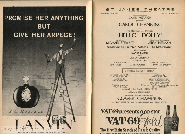 Image for Hello, Dolly! Starring Carol Channing - Playbill for the St. James Theatre, March 1964, Vol. 1, No. 3