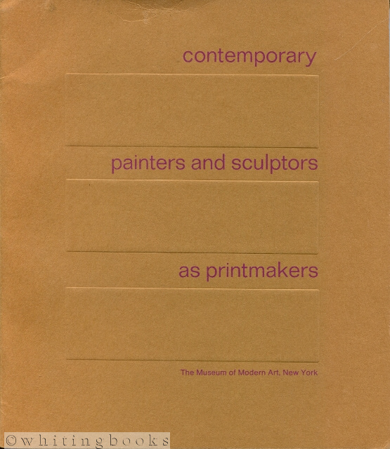 Image for Contemporary Painters and Sculptors as Printmakers