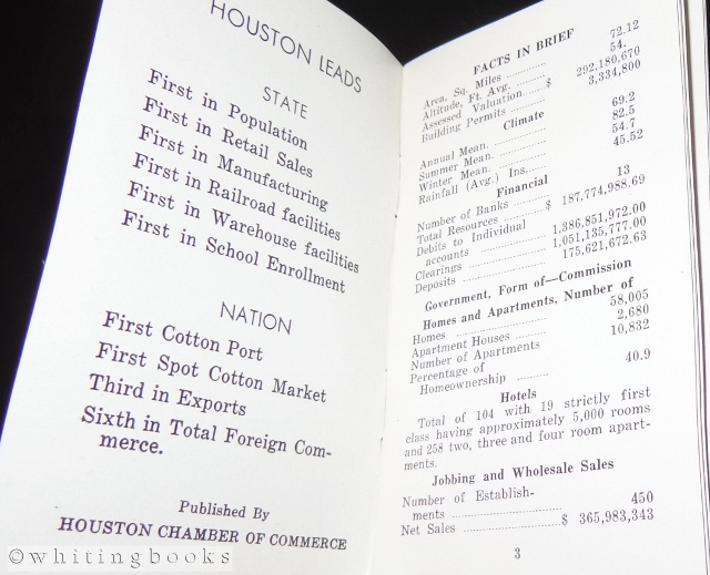 Image for Houston: Nation's First Cotton Port, Texas' Largest City - 1934 Houston, Texas  Chamber of Commerce Promotional Booklet