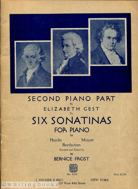 Image for Six Sonatinas for Piano By Haydn, Mozart, and Beethoven: Second Piano Part [Fischer Edition No. 8219]