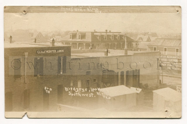 Image for Alvin, Texas Real Photo Post Card (RPPC): Town View Looking Southwest Circa 1910