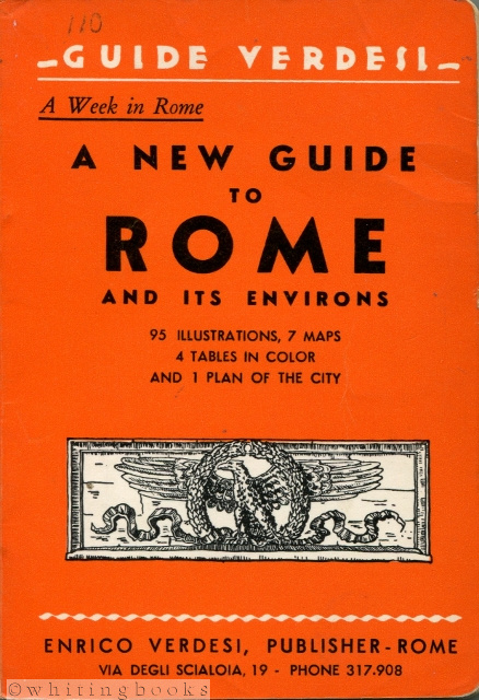 Image for Guide Verdesi - A Week in Rome: A New Guide to Rome and Its Environs