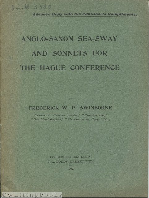 Image for Anglo-Saxon Sea-Sway and Sonnets for the Hague Conference