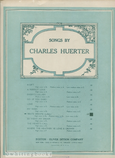 Image for Songs By Charles Huerter: Pirate Dreams [for Voice and Piano]