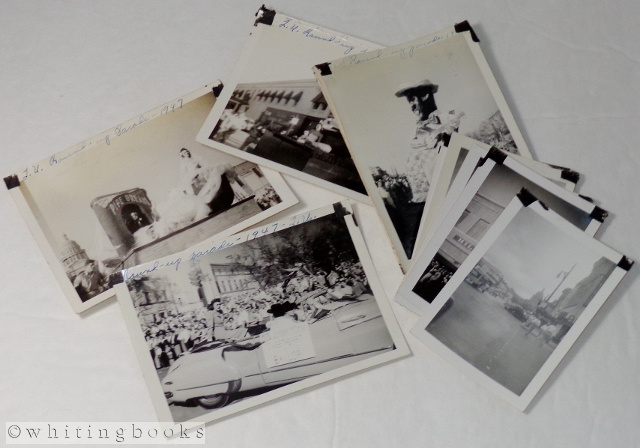 Image for 1947 University of Texas Round-Up Parade in Austin - Lot of 13 Black and White Photos
