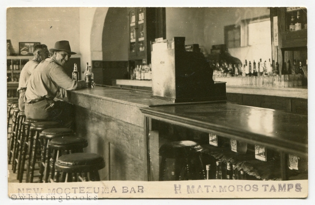 Image for Real Photo Post Card [RPPC] New Moctezuma Bar Matamoros Tamaulipas Mexico Circa 1940s