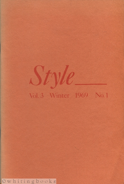 Image for Style: Vol. 3 No.1, Winter 1969