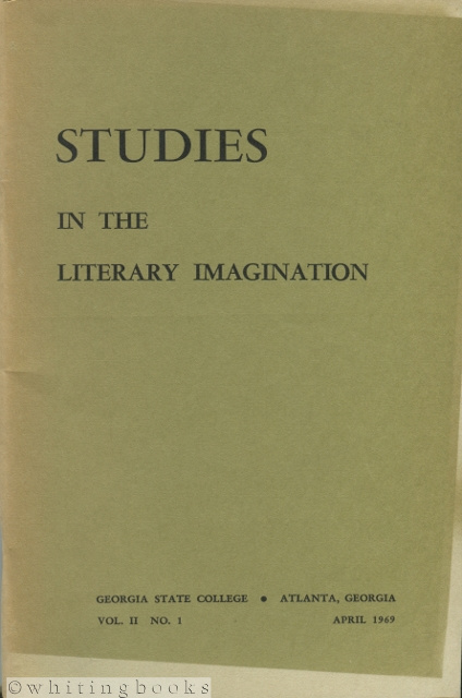 Image for Studies in the Literary Imagination, Vol II. No. 1, April 1969 [Georgia State College Literary Journal]