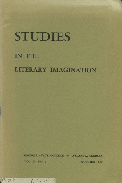 Image for Studies in the Literary Imagination, Vol II. No. 2, October 1969 [Georgia State College Literary Journal]