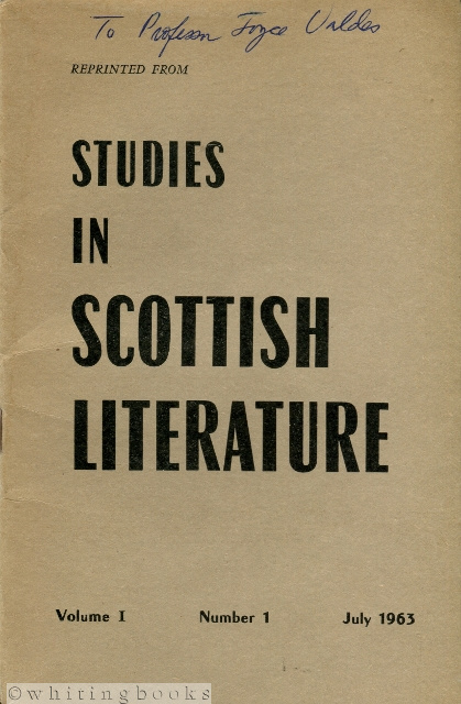 Image for Walter Scott's Advent as Novelist of Manners, reprinted from Studies in Scottish Literature Volume I Number I, July 1963
